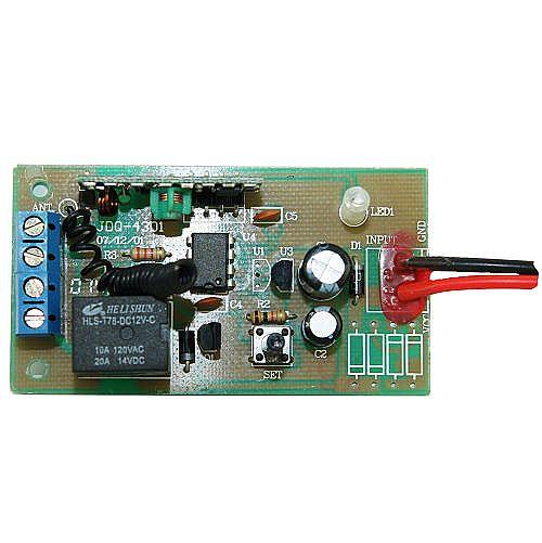 尺  寸:70×38×15mm   产品介绍   单路继电器输出;   采用接线柱